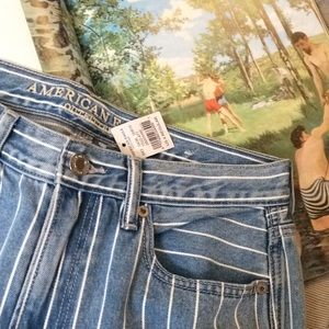AEO stripped mom jeans size 4R